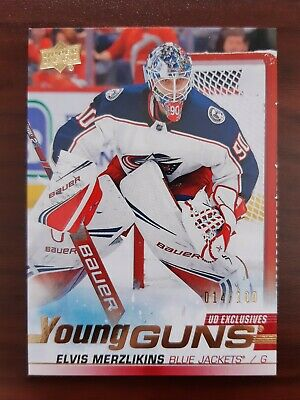 2019-20 Upper Deck Series 2 Young Guns UD EXCLUSIVES #466 Elvis Merzlikins /100