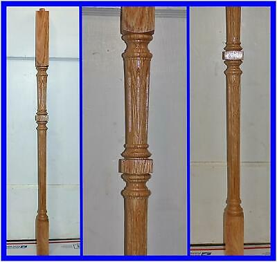 "Lot of 4 NOS Wood Stair Spindle Balusters Railing Posts Oak 34.5"" x 1.75"""