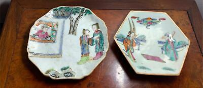 Group Of Two Chinese Tongzhi Period Famille Rose Antique Porcelain Plates