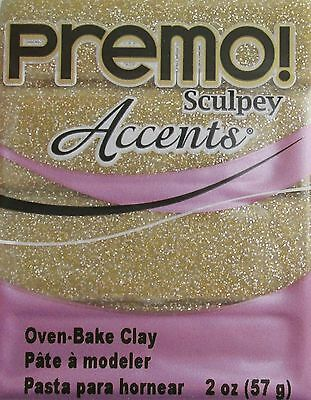 Sculpey PREMO ACCENTS - Polymer Clay - 57g - YELLOW GOLD GLITTER