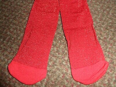 new Girls george glittery red party Tights 3-4 YEARS - BNWOT