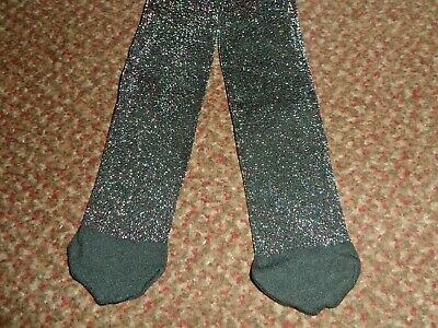 new george Girls black with multi colour glitter Tights 11-12 years - BNWOT