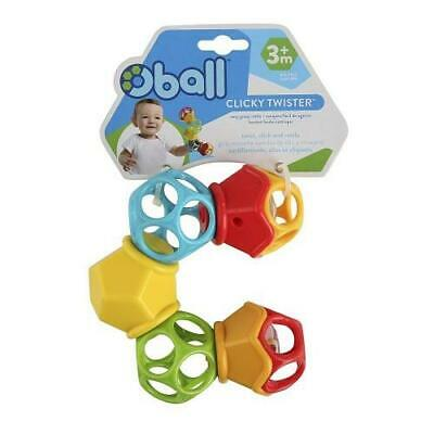 NEW Oball Clicky Twister™ Easy Grasp Rattle - Teether - Baby Toy