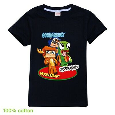 Unspeakable UnspeakableGaming Moosecraft Sharkboy Kid's T Shirt  AU Shop