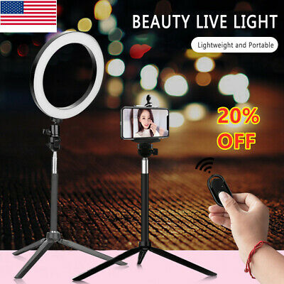 LED Ring Light Dimmable 5500K Lamp Photography Camera Photo Studio Phone Video *