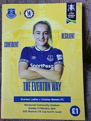 EVERTON LADIES v CHELSEA WOMEN 2018/19 Womens FA Cup Round 4 MATCHDAY PROGRAMME