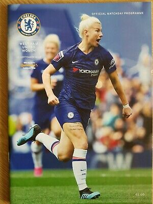 CHELSEA WOMEN v WEST HAM UNITED WOMEN 2019/20 Continental Cup Group PROGRAMME