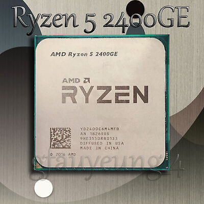 AMD Ryzen 5 2400GE 3.2GHz 4 Core 8 Threads Socket AM4 CPU R 5 2400GE Processors