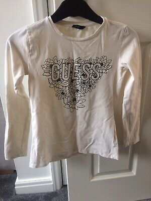 Guess Long Sleeved Cream Top Size Large