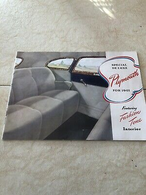 1941 Plymouth  Brochure Special Deluxe, Wagon