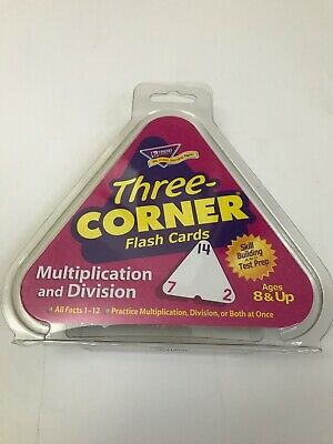 Trend Three Corner Multiplication/Division Flash Cards Times Tables Home School