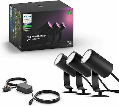 Philips Hue Lily White & Colour Ambiance Outdoor Smart Spot Base Kit BRAND NEW