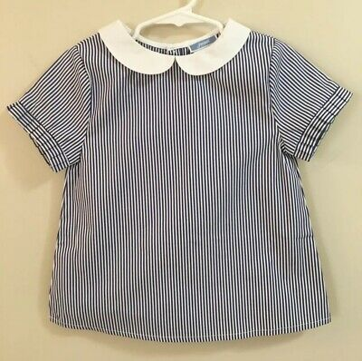 NWT, Jacadi, Striped Short Sleeve Blouse, SZ 4