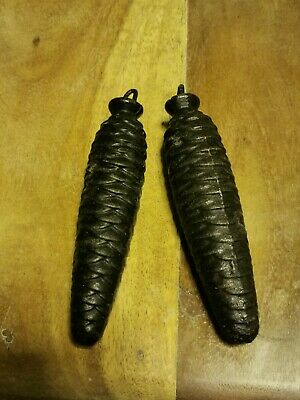 Vintage Cast Metal Pine Cone Clock Weights