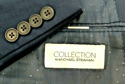 Collection By Michael Strahan Size 54 S Blazer Suit Jacket Sport Coat Blue Check