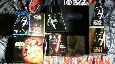 Star Wars vhs, and NEW bluray sets. FREE SHIPPING