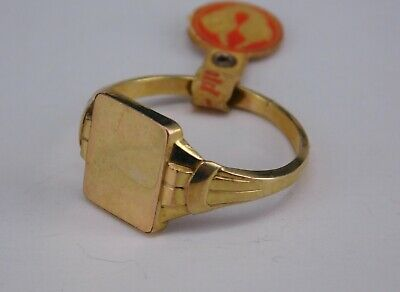 Jugendstil Gold Vlies Ring, Gravurplatte, RG 64, NEU (S 3811)