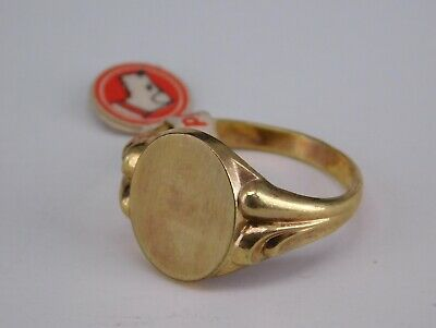 Jugendstil Gold Vlies Ring, Gravurplatte, RG 64, NEU (S 3812)