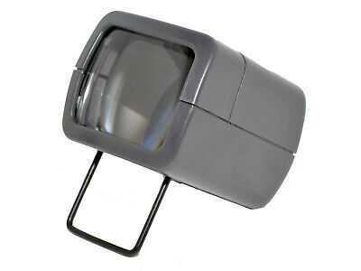 AP Slide Viewer with Light 2x Magnifcation Battery Operated Folding Foot Compact