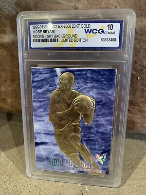 KOBE BRYANT 1996 Skybox 23K Black Gold ROOKIE Card Limited & Graded GEM MINT 10