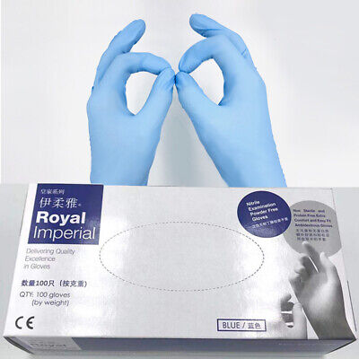 LE 500 PCS Mediacal Nitrile Janitorial Gloves 4 Mil Industrial Powder Free Labor