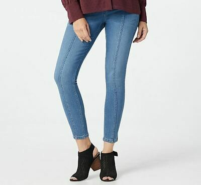 Laurie Felt Silky Denim Ankle Skinny Pull-On Jeans w/ Seam