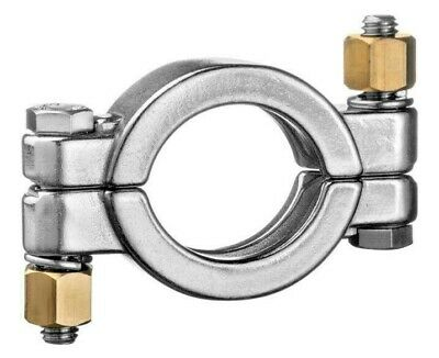 """304 Stainless Steel High Pressure Clamp - 4"""" - LOT of 5 clamps"""