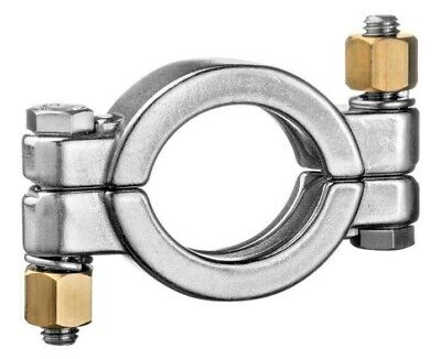 """304 Stainless Steel High Pressure Clamp - 2"""" - LOT of 4 clamps"""