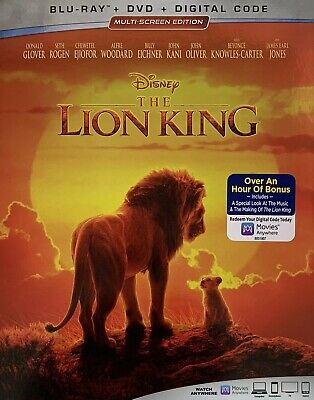 THE LION KING ~ Blu-Ray + DVD + Digital Code *New *Factory Sealed