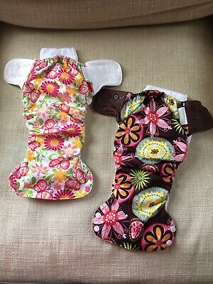 Simplex swaddlebees AIO cloth diapers Lot Of 2 Size L All In One Baby Care