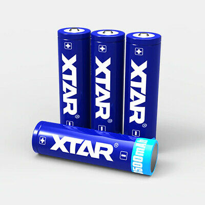 4 x XTAR PROTECTED 18650 3500mAh Rechargeable Batteries Li-Ion (PANASONIC Cells)