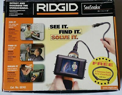 Ridgid/SeeSnake Micro Waterproof Inspection Camera with 3' foot Extension Cable