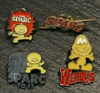 VINTAGE Wendy's SPARC Collection (4 Pins) Crew Manager Employee Lapel Pin