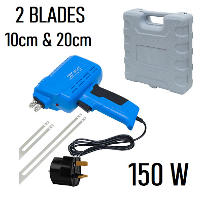 Hot Knife Styrofoam Cutter 150W 2 BLADES + PLASTIC CASE UK STOCK
