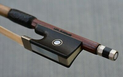 Fine Vintage Octagonal German Violin Bow by Edward Herrmann
