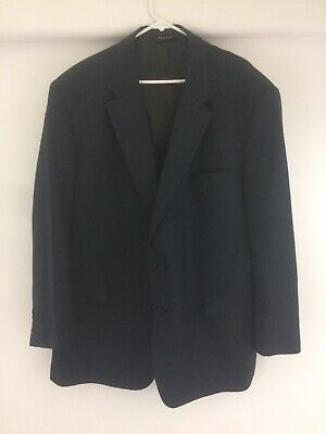 JOS A BANK CLASSIC COLLECTION  Navy 4-Season Dress Suit 52R Pants 44/32