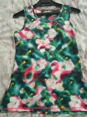 M&S Girl's Active Sport Top Size 13-14 Sleeveless with Racer Back New with Tags