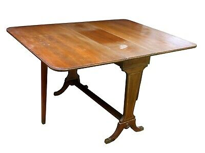 Vintage Antique SOLID Walnut Wood Wooden Drop Leaf Gate Leg Gateleg Dining Table