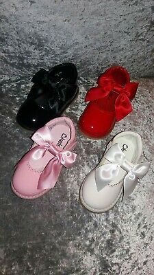 Brand New Kelsi Girls Infants Diamonte Butterfly Shimmer Shoes Sizes 3 To 2