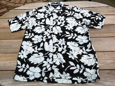 Tommy Jeans Tommy Hilfiger Men's S/S Button Shirt M Rayon Hawaiian