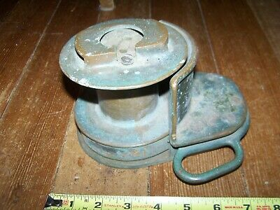 Large Antique/Vintage No 2 Merriman Bros. Brass Bronze Sailboat Rigging Winch