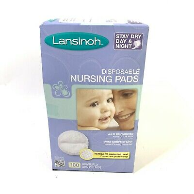 Lansinoh Nursing Pads 100 Stay Dry Disposable Breast Pads Breastfeeding 96 Count