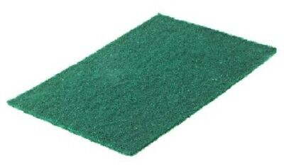 4x RS Pro GREEN SCOURING PADS 225x150x5mm 10-Pieces For Industrial Use