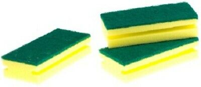 RS Pro SPONGE SCOURERS 150x65x40mm For All Washing Up Applications BLACK/YELLOW