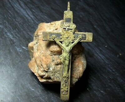 Ancient bronze cross of the 19th century.Big!