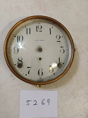 Antique Seth Thomas Tambour Mantle Clock Dial And Bezel With Glass 89 Al