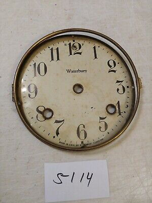 Antique Waterbury  Mantle Clock Dial & Bezel No Glass
