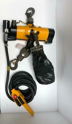 Atlas Copco Lla 1000Ex Pneumatic Air Chain Hoist 1 Ton Capacity 20 Ft. Chain