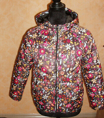 ZARA Girls brown floral jacket / coat size 11-12 years 152 cm