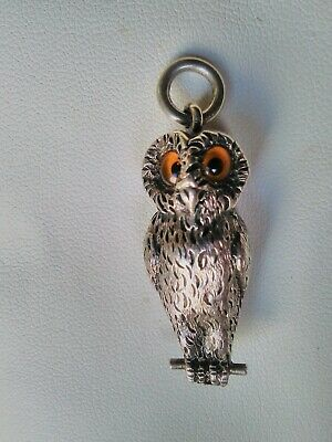 Superb, Antique, OWL Propelling Pencil By W Thornhill &Co fob, pendant etc